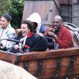 Kardashians, Travis Scoot - Exclusif - Les Kardashian passent la journée à Disney Magic Kingdom à Orlando en Floride, le 23 janvier 2020