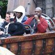 Kylie Jenner, Kris Jenner, Corey Gamble, Travis Scott - Exclusif - Les Kardashian passent la journée à Disney Magic Kingdom à Orlando en Floride, le 23 janvier 2020