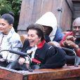 Kris Jenner, Kylie Jenner, Corey Gamble, Travis Scott - Exclusif - Les Kardashian passent la journée à Disney Magic Kingdom à Orlando en Floride, le 23 janvier 2020