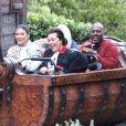 Kylie Jenner, Kris Jenner, Travis Scott, Corey Gamble, Kourtney Kardashian, North West - Exclusif - Les Kardashian passent la journée à Disney Magic Kingdom à Orlando en Floride, le 23 janvier 2020