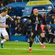 Neymar Jr (cheveux roses) - Match de Ligue 1 Conforama PSG 5-0 Montpellier au Parc des Princes à Paris le 1 février 2020 © Giancarlo Gorassini / Bestimage