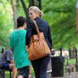 Drew Barrymore sur le tournage de Going the Distance à Central Park, New York le 6 août 2009