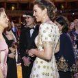 Catherine Kate Middleton, la duchesse de Cambridge et Renée Zellweger lors de la 73e cérémonie des British Academy Film Awards (BAFTA) au Royal Albert Hall à Londres, le 2 février 2020.