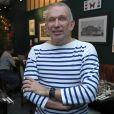 Le couturier français Jean-Paul Gaultier en rendez-vous, lors d'une interview à Moscou, le 21 octobre 2019.