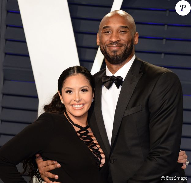 Kobe Bryant et sa femme Vanessa Bryant (enceinte) - Soirée Vanity Fair Oscar Party à Los Angeles. Le 24 février 2019