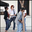 Demi Moore, Ashton Kutcher et Rumer Willis.
