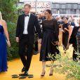 """Le prince Harry, duc de Sussex, et Meghan Markle, duchesse de Sussex, à la première du film """"Le Roi Lion"""" au cinéma Odeon Luxe Leicester Square à Londres, le 14 juillet 2019."""