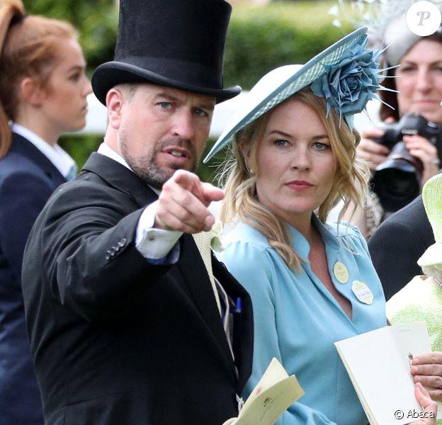 Peter Phillips et sa femme Autumn Phillips - La famille royale d'Angleterre lors du Royal Ascot, jour 5. Le 22 juin 2019. @Jonathan Brady/PA Photos/ABACAPRESS.COM