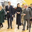 Le prince William, duc de Cambridge, et Catherine (Kate) Middleton, duchesse de Cambridge, Le prince Charles, prince de Galles, et Camilla Parker Bowles, duchesse de Cornouailles - Visite au centre de réadaptation médicale de la défense Stanford Hall, Loughborough, le 11 février 2020 où ils ont rencontré des patients et du personnel et ont visité le gymnase et atelier de prothèse.