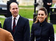 Kate Middleton très chic en noir, amusée avec William, Charles et Camilla