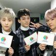 Photo de Chen et du groupe EXO publiée sur Instagram