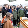 Exclusif - Les obsèques de Claire Bretécher au cimetière de Montmartre à Paris le 15 février 2020.