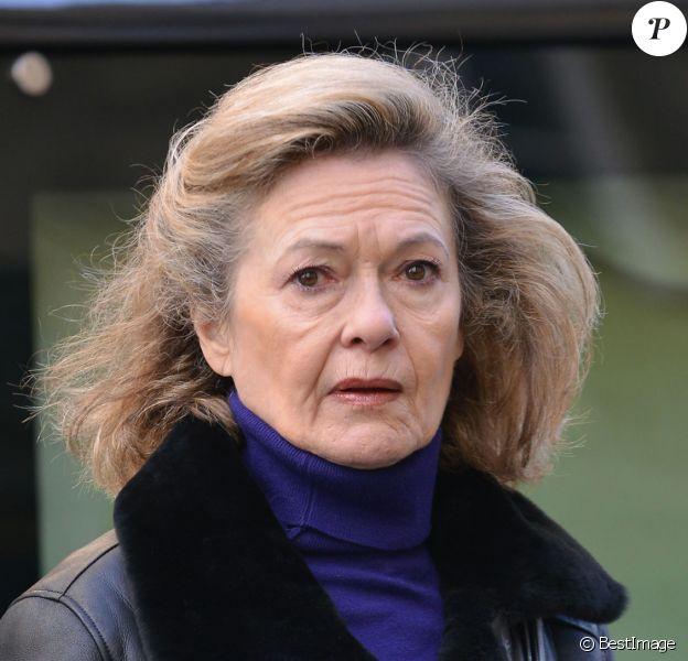 Corinne Lahaye (femme de Jean-Pierre Darras) - Obsèques de Corinne Le Poulain en l'église Saint-Roch à Paris le 16 février 2015.