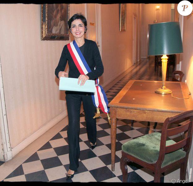 Rachida Dati dans sa mairie du VIIe arrondissement