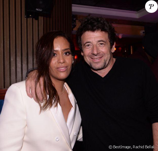 Exclusif - Amel Bent et Patrick Bruel lors de la soirée Eleven Paris x Amel Bent : I Found Love au bar de nuit musical L'Orphée, dans le 9e arrondissement de Paris, France, le 25 février 2020. © Rachid Bellak/Bestimage