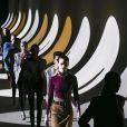 Défilé de mode Saint Laurent collection prêt-à-porter hiver 2020 à Paris, le 25 février 2020.