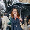 Isabelle Huppert a assisté au défilé de mode Chloé, collection prêt-à-porter automne-hiver 2020/2021 lors de la semaine de la mode. Paris, le 27 février 2020. © Veeren-Clovix/Bestimage