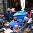 Illustration cercueil - Arrivées aux obsèques de Michou en l'église Saint-Jean de Montmartre à Paris. Le 31 janvier 2020
