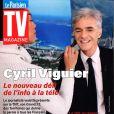 Cyril Viguier en couverture du Parisien TV Magazine.