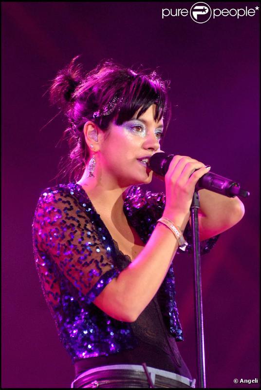 Lily Allen au festival de Sziget, en Hongrie. 12/08/09