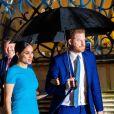 Le prince Harry, duc de Sussex, et Meghan Markle, duchesse de Sussex arrivent à la cérémonie des Endeavour Fund Awards au Mansion House à Londres, Royaume Uni, le 5 mars 2020.