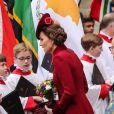 Kate Middleton, duchesse de Cambridge - La famille royale d'Angleterre à la cérémonie du Commonwealth en l'abbaye de Westminster à Londres, le 9 mars 2020.
