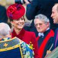 Kate Middleton, Prince William, - La famille royale d'Angleterre lors de la cérémonie du Commonwealth en l'abbaye de Westminster à Londres, le 9 mars 2020.
