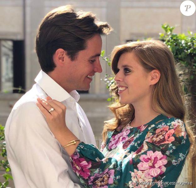 La princesse Beatrice annonce ses fiançailles avec Edoardo Mapelli Mozzi sur Instagram, le 26 septembre 2019.