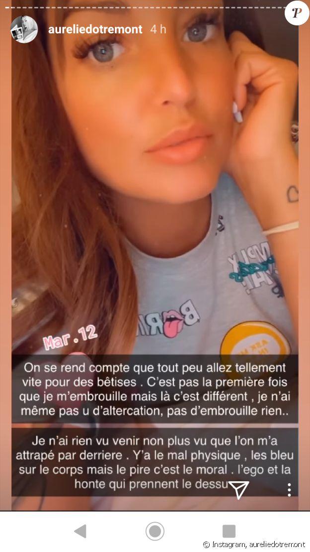 Aurélie Dotremont révèle avoir été agressée, sur Instagram, le 12 mars 2020