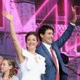 Justin Trudeau, sa femme Sophie Grégoire - Célébration du 150ème anniversaire du Canada à Ottawa. Le 1er juillet 2017
