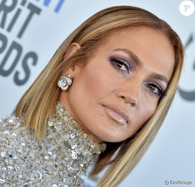 Jennifer Lopez au photocall de la soirée de la 35ème édition des Film Independant Spirit Awards à Los Angeles le 8 février 2020.