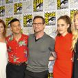 "Grace Gummer, Rami Malek, Christian Slater, Carly Chaikin et Portia Doubleday 'Mr. Robot' au photocall ""TV-Serie"" au Comic-Con International 2016 à San Diego, le 22 juillet 2016"