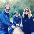 Ingrid Chauvin avec Thierry Peythieu et Tom, en pleine promenade à cheval, le 16 février 2020