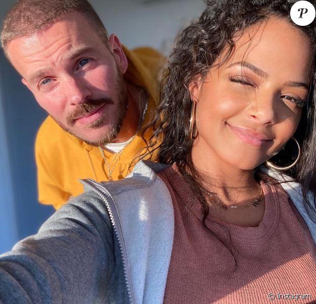 Christina Milian : Selfie en amoureux avec M. Pokora le 28 mars 2020.
