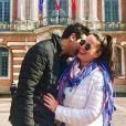 """Marlène de """"Mariés au premier regard"""" et son petit ami Sébastien à Toulouse, le 24 novembre 2019"""