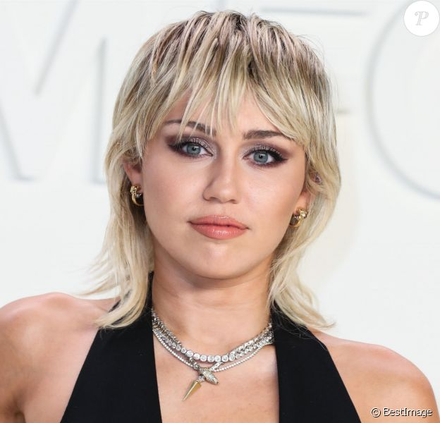 Miley Cyrus - Les célébrités posent avant d'assister au défilé Tom Ford: Autumn/Winter 2020 aux Milk Studios dans le quartier de Hollywood à Los Angeles, le 7 février 2020.
