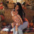Kylie Jenner, Travis Scott et leur fille Stormi sont partis à la cueillette aux citrouilles à l'approche de la fête d'Halloween. Le 16 octobre 2019.