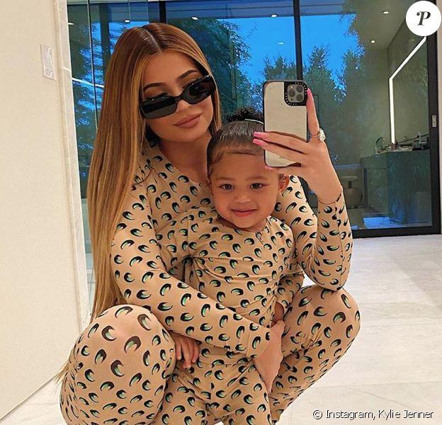 Kylie Jenner et sa fille Stormi. Mars 2020.