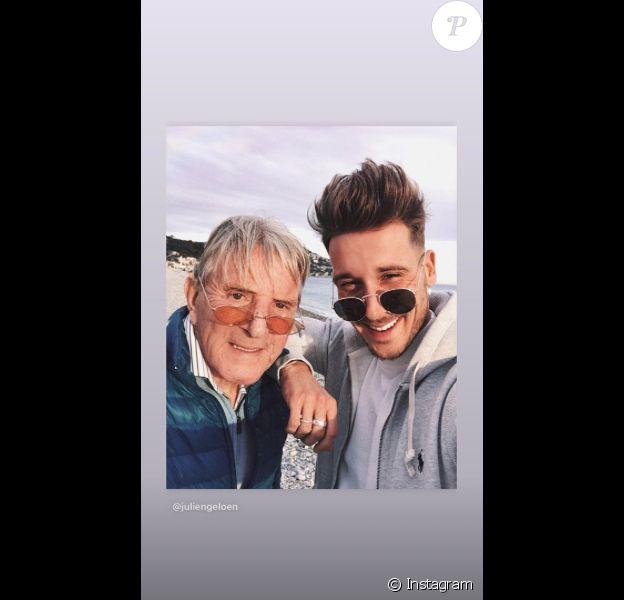 Julien Geloën a posté des photos de son papa en Story Instagram. Il est décédé du coronavirus en avril 2020.