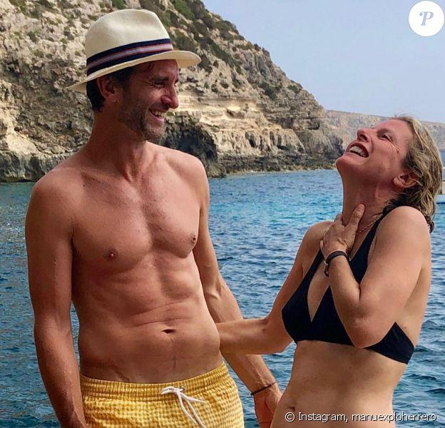 Karin Viard et son compagnon présumé Manuel Herrero sur Instagram, août 2019.
