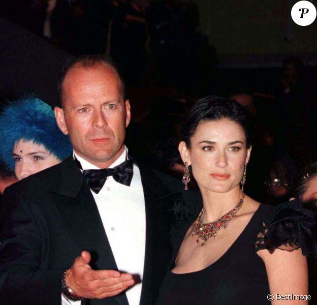Bruce Willis et Demi Moore au Festival de Cannes en 1997.