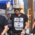 Johnny Depp et J. Perry arrivent à l'émission Jimmy Kimmel Live!' au El Capitan Entertainment Centre à Hollywood, le 12 juin 2019