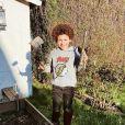 Rachel Legrain-Trapani partage les coulisses de son quotidien, alors qu'elle est confinée avec son fils Gianni. Instagram, mars 2020.