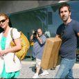 Katherine Heigl et son mari Josh Kelley font du shopping. La maman de la belle, Nancy, n'est pas loin. Août 2009