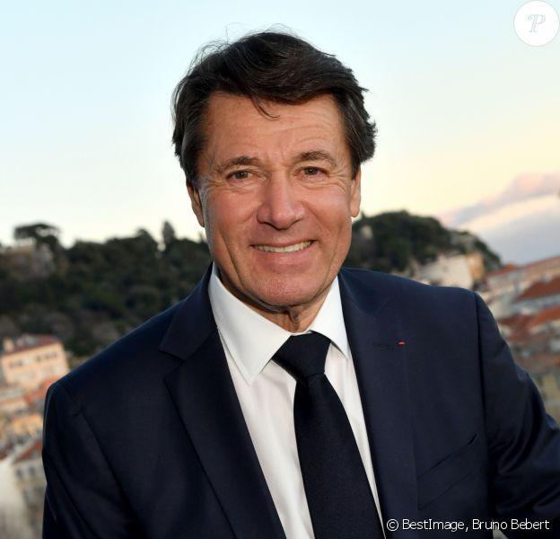 """Christian Estrosi, maire de Nice, présente les 70 membres de sa liste électorale pour les élections municipales de Nice, à l'hôtel """"Aston La Scala"""". Nice, le 27 février 2020. © Bruno Bebert/Bestimage"""