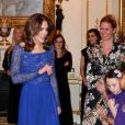 "Kate Middleton, duchesse de Cambridge, assiste au dîner de gala à l'occasion du 25 ème anniversaire de l'association caritative ""Place2Be"" à Buckingham Palace à Londres, le 9 mars 2020."