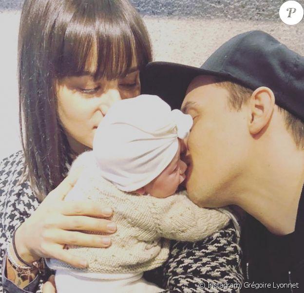 Alizée, Grégoire Lyonnet et leur fille Maggy sur Instagram. Le 1er janvier 2020.