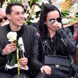 Grégoire Lyonnet et sa compagne Alizée - La troupe de Danse avec les Stars participe à la 4ème bataille de Fleurs dans le cadre du Carnaval 2016 à Nice le 24 février 2016.  © Bruno Bebert/Bestimage