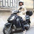 Exclusif - Christine Bravo à la sortie des studios de la radio RTL à Paris, le 28 mai 2015