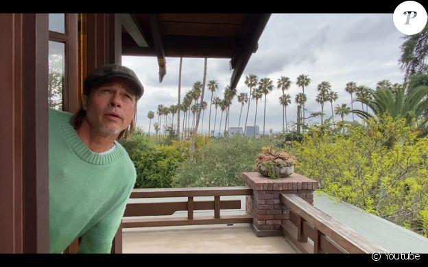 Brad Pitt apparaît sur une vidéo de la chaîne YouTube de son ami John Krasinski, le 19 avril 2020.